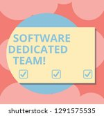 writing note showing software...   Shutterstock . vector #1291575535