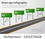 road sign infographic. banner...   Shutterstock .eps vector #1291575628