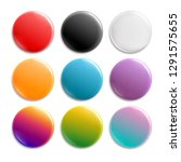 colorful pin badges. badge icon ... | Shutterstock .eps vector #1291575655