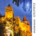 the medieval castle of bran... | Shutterstock . vector #1291578715