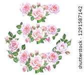 set of roses illustrations... | Shutterstock . vector #1291587142