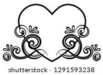 heart decorated with floral... | Shutterstock .eps vector #1291593238