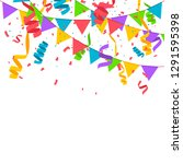confetti in flat style isolated ... | Shutterstock .eps vector #1291595398