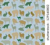 animal pattern | Shutterstock .eps vector #129160802