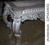 antique white wash mahogany... | Shutterstock . vector #1291614652