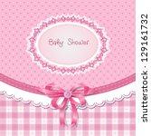 baby shower for girl  pink... | Shutterstock .eps vector #129161732