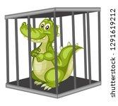 cute cartoon alligator inside... | Shutterstock .eps vector #1291619212