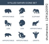 safari icons. trendy 9 safari... | Shutterstock .eps vector #1291620592