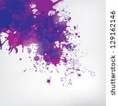 colored paint splashes  on... | Shutterstock . vector #129162146