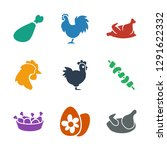 9 chicken icons. trendy chicken ... | Shutterstock .eps vector #1291622332