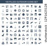 outdoor icons. trendy 100... | Shutterstock .eps vector #1291625128