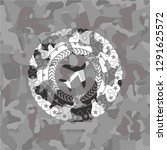 plane icon on grey camouflage... | Shutterstock .eps vector #1291625572