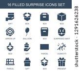 16 surprise icons. trendy... | Shutterstock .eps vector #1291626238