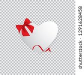 valentine heart tied with red... | Shutterstock .eps vector #1291628458