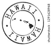 hawaii usa silhouette postal... | Shutterstock .eps vector #1291628968