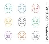 crying emot icon white...   Shutterstock .eps vector #1291631278