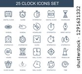 25 clock icons. trendy clock... | Shutterstock .eps vector #1291631332