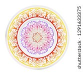 decorative round mandala from... | Shutterstock .eps vector #1291633375
