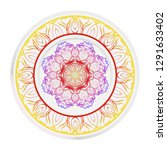 decorative round mandala from... | Shutterstock .eps vector #1291633402