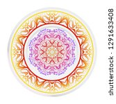 decorative round mandala from... | Shutterstock .eps vector #1291633408