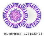 mandala circular abstract... | Shutterstock .eps vector #1291633435
