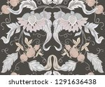 seamless pattern with stylized... | Shutterstock .eps vector #1291636438