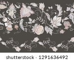 seamless pattern with stylized... | Shutterstock .eps vector #1291636492