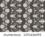 seamless pattern with stylized... | Shutterstock .eps vector #1291636495