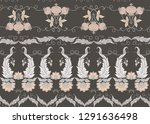 seamless pattern with stylized... | Shutterstock .eps vector #1291636498
