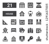 house icon set. collection of...   Shutterstock .eps vector #1291637005