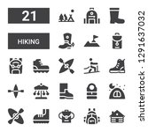 hiking icon set. collection of... | Shutterstock .eps vector #1291637032