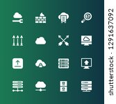 upload icon set. collection of... | Shutterstock .eps vector #1291637092