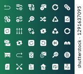 refresh icon set. collection of ... | Shutterstock .eps vector #1291637095