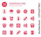 temperature icon set.... | Shutterstock .eps vector #1291637362