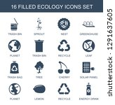 ecology icons. trendy 16... | Shutterstock .eps vector #1291637605