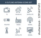 antenna icons. trendy 9 antenna ... | Shutterstock .eps vector #1291637692