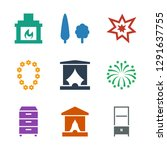decor icons. trendy 9 decor... | Shutterstock .eps vector #1291637755