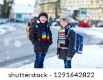 two little kids boys of...   Shutterstock . vector #1291642822