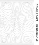 warped gray lines.wavy lines... | Shutterstock . vector #1291645432