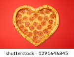Pizza shaped heart top view...