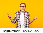 successful man with a phone  on ... | Shutterstock . vector #1291648522