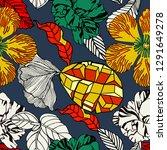 seamless pattern design  exotic ... | Shutterstock .eps vector #1291649278