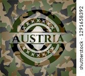 austria written on a camo... | Shutterstock .eps vector #1291658392