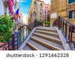 narrow canal with bridge in...   Shutterstock . vector #1291662328