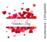 happy valentines day and... | Shutterstock . vector #1291666045