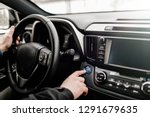 car driver starting the engine... | Shutterstock . vector #1291679635