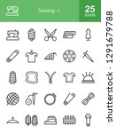 sewing line icons | Shutterstock .eps vector #1291679788
