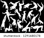 illustration with breakdancers... | Shutterstock .eps vector #1291680178