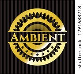 ambient golden badge or emblem | Shutterstock .eps vector #1291688218