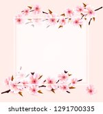 spring nature background with... | Shutterstock .eps vector #1291700335
